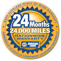 napa warranty 24 months